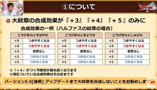 【朗報】大紋章さん、+1~2は付かなくなるうえに最大値の+5が付きやすくなることが判明!